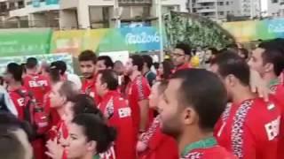 شاهد.. مراسم رفع العلم المصري في البرازيل