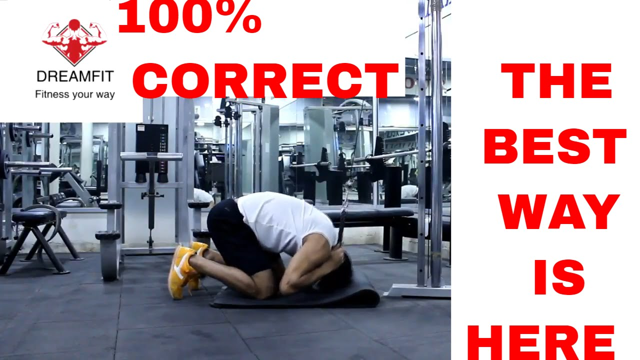 how to do kneeling cable crunch I cable crunches correctly I cable ...