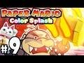 Paper Mario Color Splash - Wii U Gameplay Walkthrough PART 9 - Crimson Tower VS Morton Koopa Jr Boss
