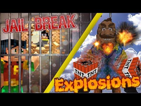 Minecraft GIGA: Hello Neighbor - GIGA NEIGHBOR  vs TNT / Batman Jail Escape (minecraft roleplay)