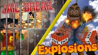Minecraft GIGA: Hello Neighbor - GIGA NEIGHBOR  vs TNT / Batman Jail Escape (minecraft roleplay)