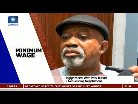 Ngige Meets With Pres. Buhari Over Pending Negotiations On Minimum Wage 26/10/18 Pt.3  News@10 