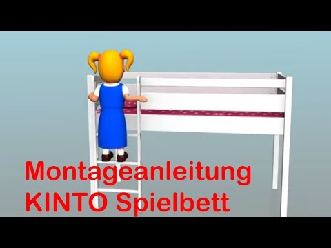 bauanleitung kinderbett kinto spielbett youtube. Black Bedroom Furniture Sets. Home Design Ideas