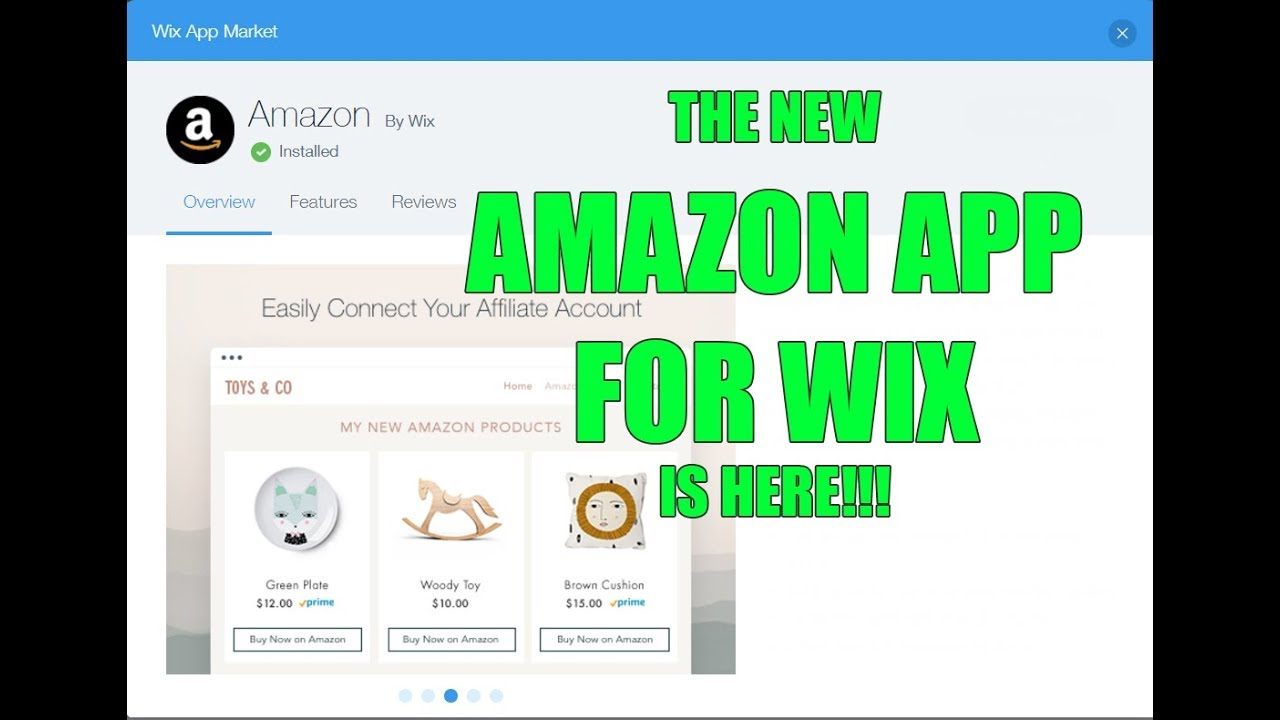 NEW WIX AMAZON AFFILIATES APP! How to build an amazon associate / affiliate  website