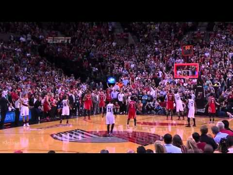 Damian Lillard amazing game winner vs Rockets 2014 NBA Playoffs GM6