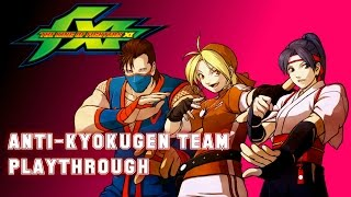 The King of Fighters XI: Anti-Kyokugen Team Playthrough & Ending (PS2)