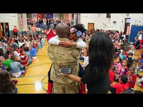 Dutrow Veterans Day Dad and Military Homecoming Surprise 2016