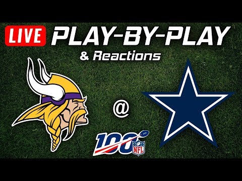 Vikings Vs Cowboys | Live Play-By-Play & Reactions
