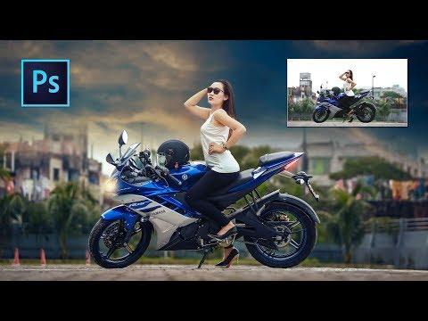 Photoshop tutorial: How to edit Yamaha Bike Photo