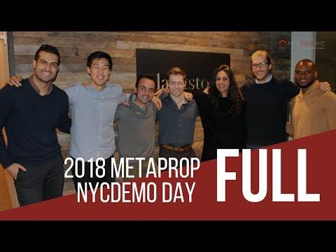 2018 MetaProp NYC Demo Day | Full Version