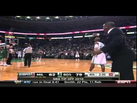 (NBA Season 10-11)-Kevin Garnett Poster And Fight On Andrew Bogut