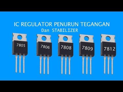 IC REGULATOR 78XX (Cara Menurunkan Tegangan DC Power Suply )