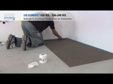badezimmer sanierung einbau einer aco showerdrain dusc doovi. Black Bedroom Furniture Sets. Home Design Ideas
