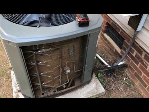 Low Performance Trane AC Unit Lack Of Maintenance Serviced