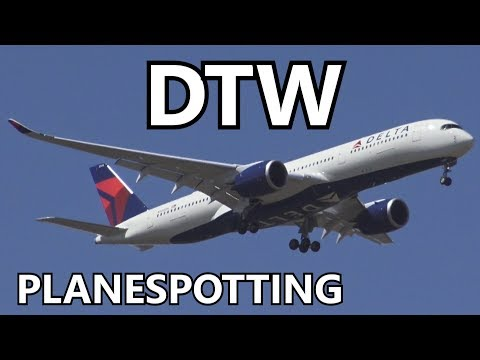 Windy Planespotting at Detroit Metro Airport w/ ATC