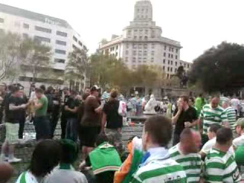 Celtic fans in Barcelona
