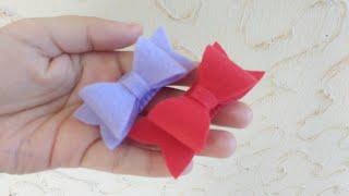 Como fazer laço de feltro – DIY por Morgania Sales