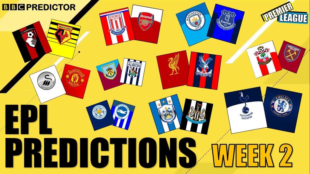 BBC Predictor: Premier League 2017/18 (Week 2) - YouTube