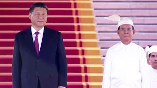 President Xi Jinping attends Myanmar welcome ceremony
