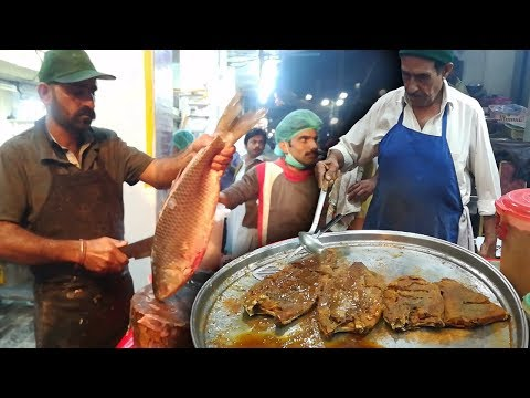 Amazing Fish Cutting Skills | FISH FRY At Hyderabad Street Food Of Pakistan