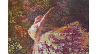 Flying Ballerina Mixed media & decoupage tutorial on canvas DIY