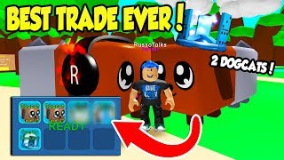 I CAN'T BELIEVE HE TRADED ME THIS IN BUBBLE GUM SIMULATOR!! *2 DOGCATS* (Roblox)