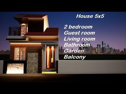 ep 37 desain rumah minimalis 5x5 house 5x5 casa de 5x5 25