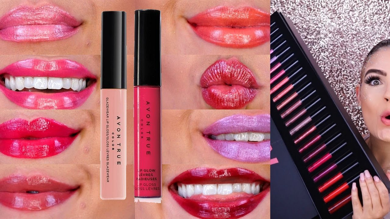 Avon True Color Lip Glow Lip Gloss Review Swatches Youtube