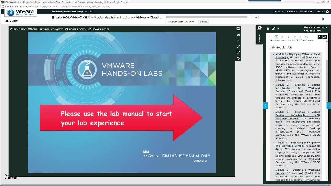 How to log into VMware then begin the Cloud Foundation Labs