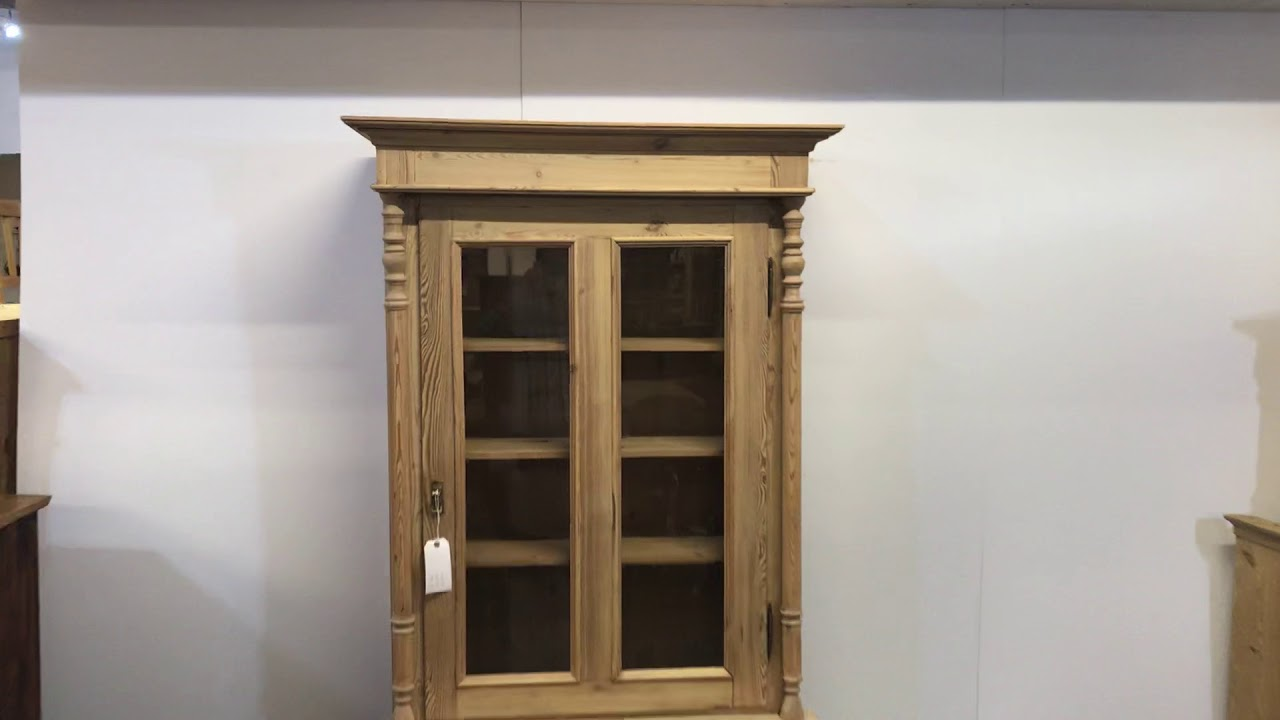 Antique Danish Pine Display Cabinet for sale - Pinefinders Old Pine  Furniture Warehouse - Antique Danish Pine Display Cabinet For Sale - Pinefinders Old Pine