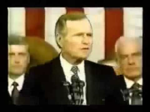 George Bush Sr New World Order Speech On September 11, 1991