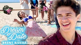 BRENT RIVERA's GIRLFRIEND Beach Challenge?! Dream Date with Brent Rivera EP 2