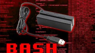 BASH  - USB Credit Card Swiper Script - Code for Magnetic Stripe HID Linux Shell
