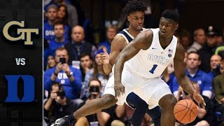georgia-tech-vs-duke-basketball-highlights-2018-19
