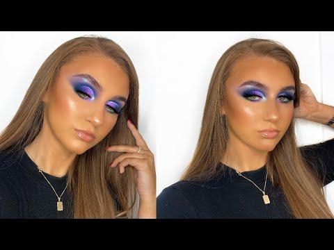 colourful cut crease tutorial  rebecca capel makeup  youtube