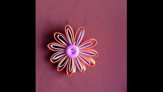 Passo a passo- Flor de fita de viés