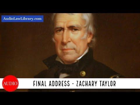 Zachary Taylor's Final Address (Full Audiobook)
