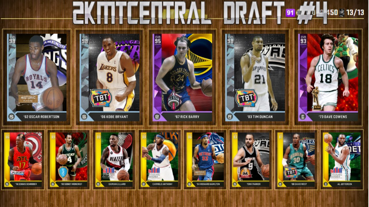 NBA 2K16 2KMTCENTRAL DRAFT #4 - 91 RATED DRAFT?!?! - YouTube