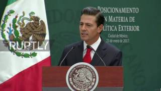 Mexico  'Mexico does not believe in walls'   Nieto