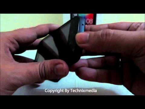 Steps To Remove HTC Explorer Back Cover To Insert Battery and SIM