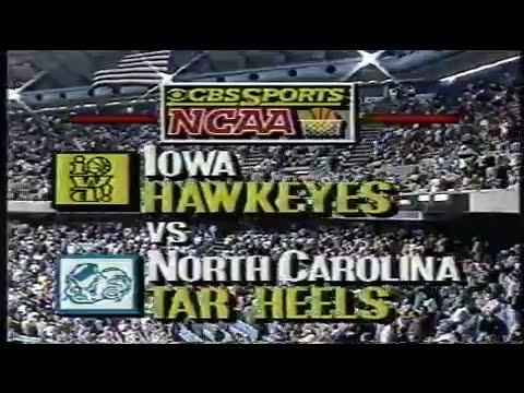 1988/89 NCAA BB: #9 Iowa at #6 UNC