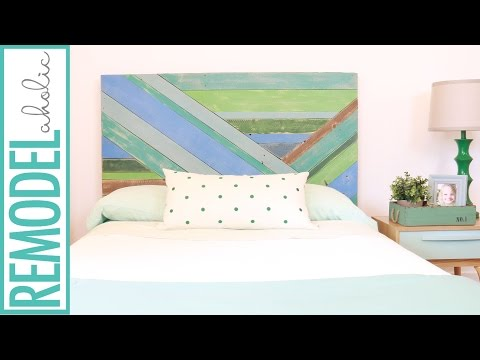 DIY Pieced Wood Headboard Painted with Chalk Paint®