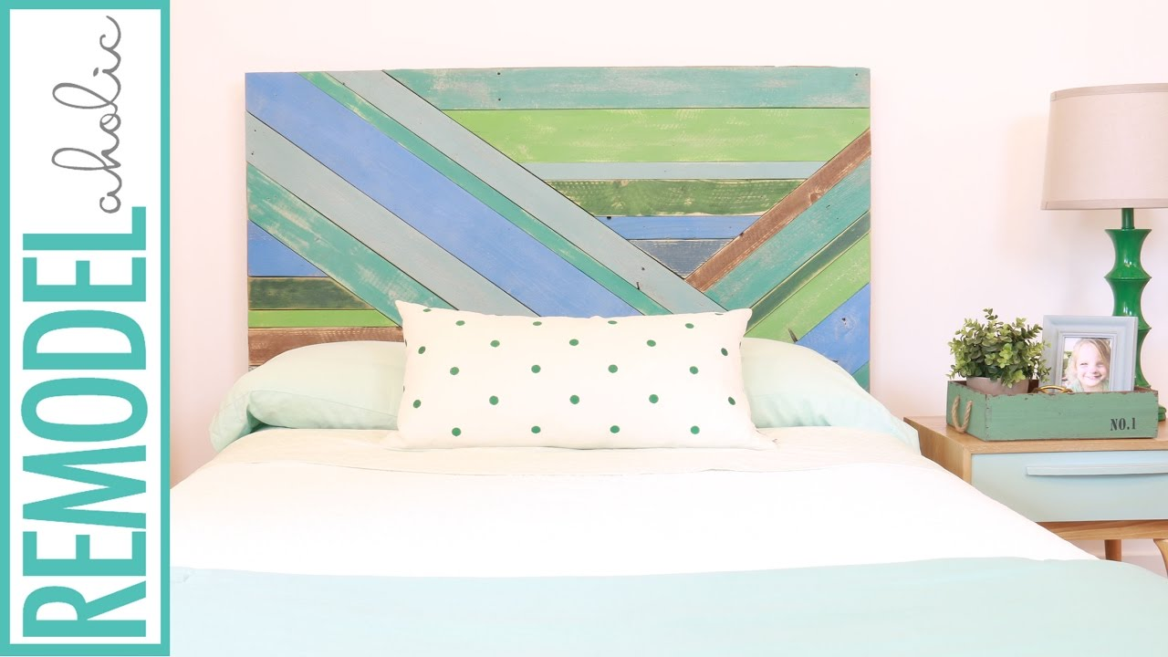 Attractive DIY Pieced Wood Headboard Painted with Chalk Paint® - YouTube HV55