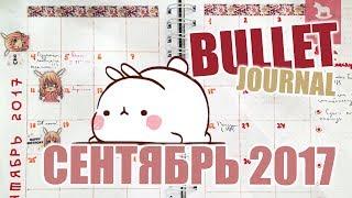 Bullet Journal | Как вести ежедневник Bullet Journal | Идеи - сентябрь 2017 🍁📕