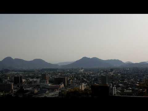 Another view of Kotohira/Zentsuji  and Mt Iinoyama  from Marugame Castle 丸亀城から像頭山 讃岐富士
