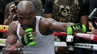FLOYD MAYWEATHER IN CRAZY SHAPE FOR MCGREGOR! SHOWS UNREAL STAMINA AFTER 2 HOUR WORKOUT
