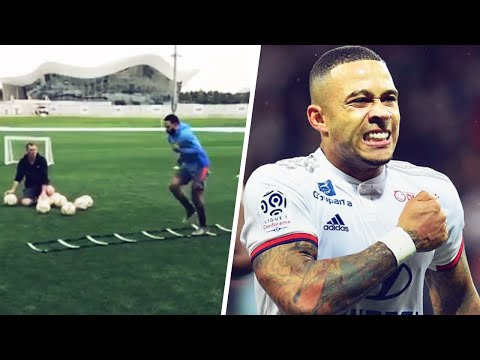 Memphis Depay Is Already Back In Training 2 Months After His ACL Injury | Oh My Goal