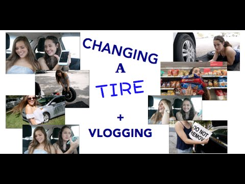 Vlogging Gone Wrong!!//Changing A Tire
