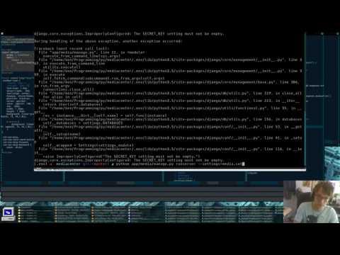 Media Center   Python/Django/JavaScript/ES6 Live Coding - Episode 5 (Pt 1)