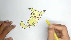 Cara Menggambar Dan Mewarnai Pikachu Untuk Anak Anak